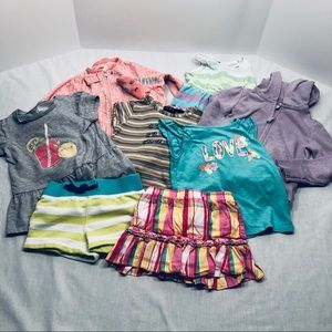 Other - Bundle of girls 4T tops, bottoms, dress, pjs